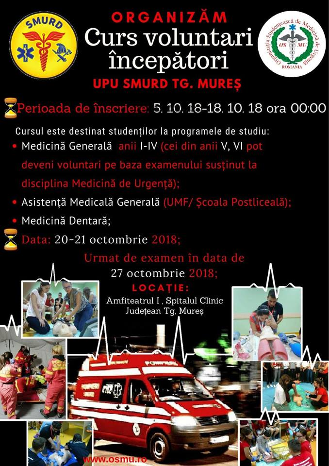 Curs voluntari SMURD