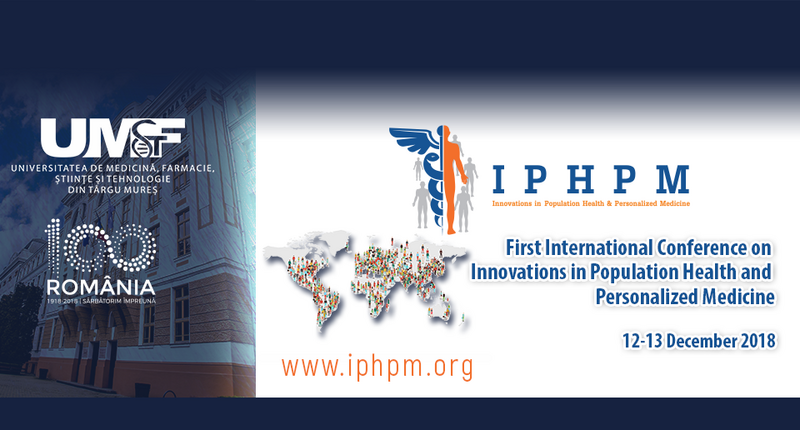 First International Conference on Innovations in Population Health and Personalized Medicine