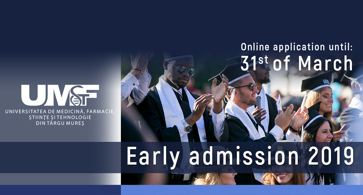 The application process for international students at UMFST Târgu-Mureș has begun! Early admission, a unique admission system for international students